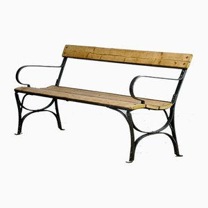 Riveted Iron Park Bench, 1930s