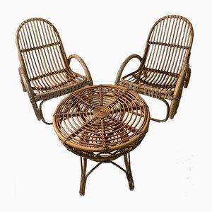 Bamboo Garden Seat, Set of 3