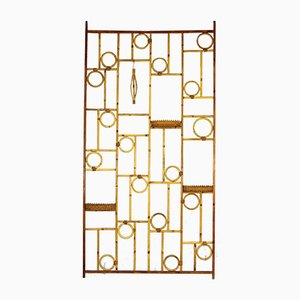 Vintage Bamboo and Rattan Room Divider, 1970s