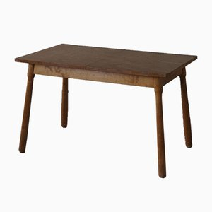 Danish Desk or Extendable Dining Table in Birch by Philip Arctander, 1940s