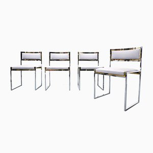 Chairs by Willy Rizzo, 1970s, Set of 4