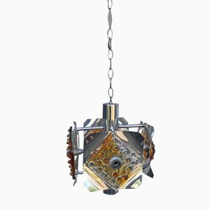 Ceiling Lamp with 4 Lights by Toni Zuccheri for Mazzega
