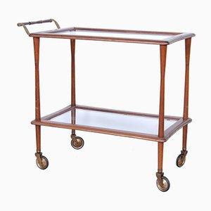 Wooden Bar Cart, 1950s