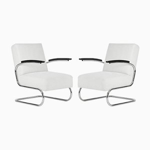 S411 Armchairs by W. H. Gispen for Mücke & Melder, 1930s, Set of 2