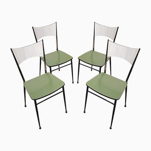 Mid-Century Dining Chairs in Formica, Italy, 1960s, Set of 4