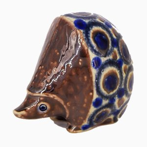 Vintage German Ceramic Hedgehog Sculpture by Elfriede Balzar-Kopp for Westerwald, 1950s