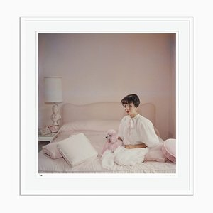Pink Accessory Archival Pigment Print Framed in White by Slim Aarons