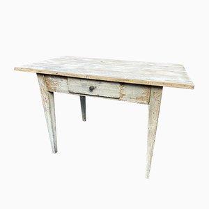 Französischer Lackierter Tisch aus Tannenholz, 1900er