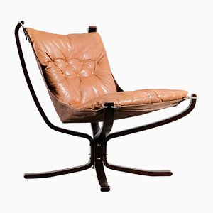 Chaise Falcon Vintage par Sigurd Ressell pour Vatne Furniture, 1970s
