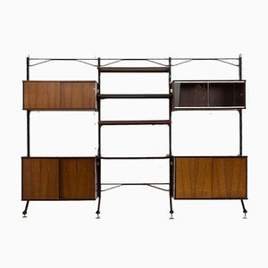 Rosewood Urio Wall Unit with Desk by Ico & Luisa Parisi for MIM, Italy, 1960s