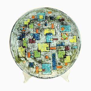 Mid-Century Handmade Ceramic Plate by Ferenc Pal, 1970s