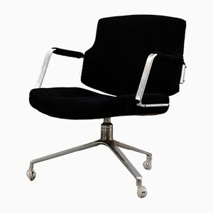 Vintage Black Velvet Fk84 Office Chair by Preben Fabricius & Jørgen Kastholm for Kill International