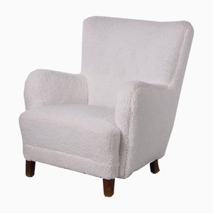 Vintage Wool Armchair from Fritz Hansen, 1950s