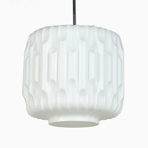 Opaline Glass Lamp from Napako, 1960s