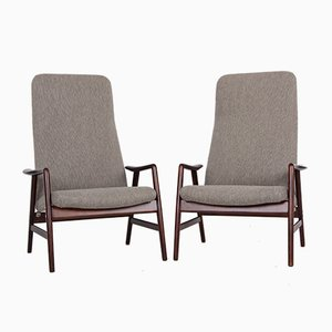 Model Contour Chairs by Alf Svensson for Fritz Hansen, Set of 2