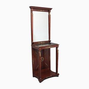 19th Century Mahogany Mirrored Console Table