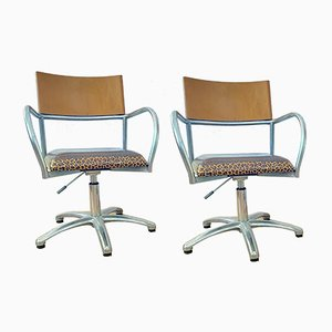 Height Adjustable Chairs, 1980s, Set of 2