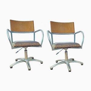 Höhenverstellbare Stühle, 1980er, 2er Set