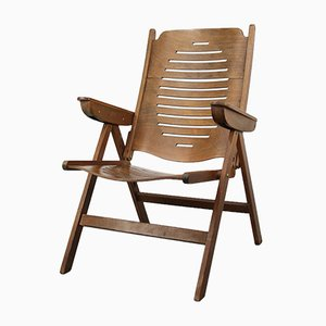 Vintage Danish Folding Armchair with 5 Positions