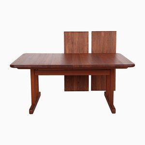 Solid Teak Dining Table with Extension from A/S Mikael Laursen