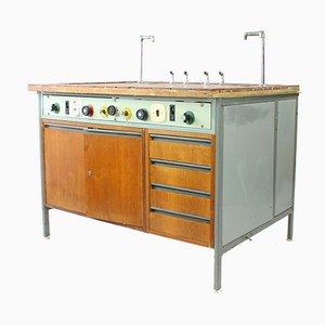 Mesa de laboratorio industrial, Czechoslovakia, 1976