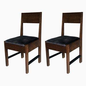 Art Deco Stuhl aus Eiche von LOV Oosterbeek, 1920er, 2er Set