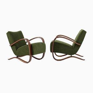 H-269 Lounge Chairs by Jindřich Halabala, 1930s, Set of 2