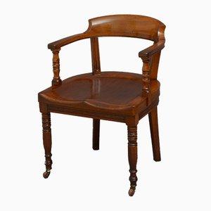 Spät Viktorianischer Schreibtisch oder Bibliotheksstuhl von Turner, Son & Walker