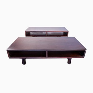 Coffee Tables in Wood, 1980s, Set of 2