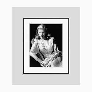 Imprimé Pigmentaire d'Encre Lauren Bacall Noir