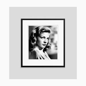 Lauren Bacall Archival Pigment Print Framed in Black
