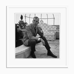 Stampa Lee Marvin argentata con cornice in bianco di Victor Drees