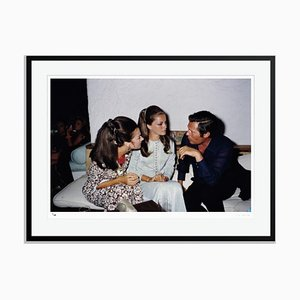 Crespi and Mastroianni Framed in Black by Slim Aarons