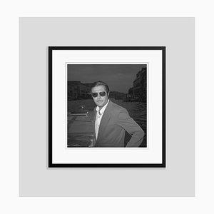 Stampa Marcello Mastroianni a pigmento, bianco