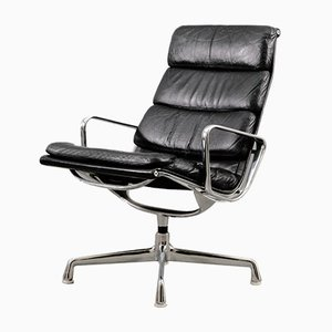 Vintage Black EA 216 Soft Pad Lounge Chair by Charles & Ray Eames for Herman Miller