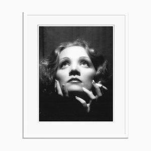 Imprimé Pigmentaire Marlene Dietrich Encadré en Blanc