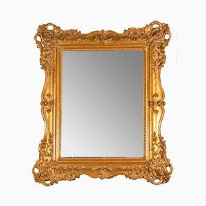 Specchio Luigi Filippo in legno dorato, Francia, XIX secolo