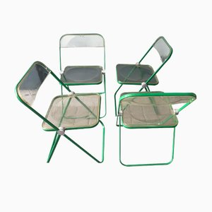 Plia Chairs by Giancarlo Piretti for Castelli / Anonima Castelli, Set of 4