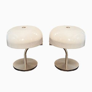 Metal and Perspex Lamps by Giotto Stoppino for Valenti Luce, Set of 2