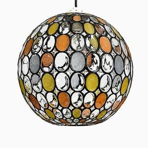Lampe à Suspension Ball en Verre de Glashütte Limburg, 1960s