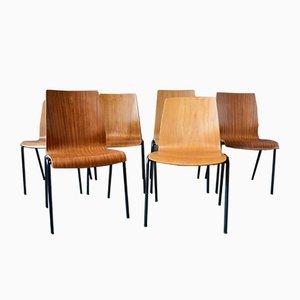 Mid-Century Esszimmerstühle im Skandinavischen Stil von Hiller, 6er Set