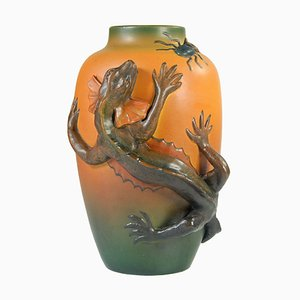 Antique Danish Art Nouveau Ceramic Floral Vase from Ipsens, 1920s