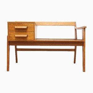 Mid-Century Vintage Teak Chippy Heath Hall Bench Seat with Drawers
