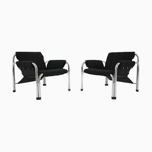 Chrome Armchairs by Viliam Chlebo, Czechoslovakia, 1980s, Set of 2