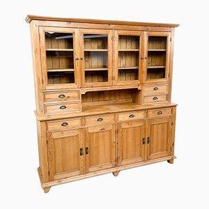 Vintage Pine Kitchen Display Cabinet