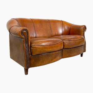 Vintage 2-Seater Sheep Leather Sofa from Joris