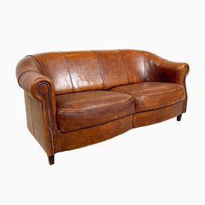 Vintage Sheep Leather 3-Seater Sofa from Joris