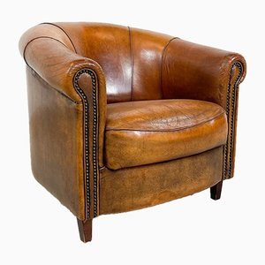 Vintage Sheep Leather Club Chair from Joris