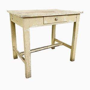 Vintage White Painted Farmhouse Table