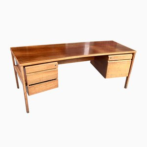 Executive Office Desk in Blond Mahogany, 1970s